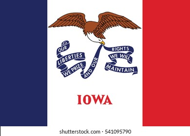 Iowa State Flag, USA. Vector Format