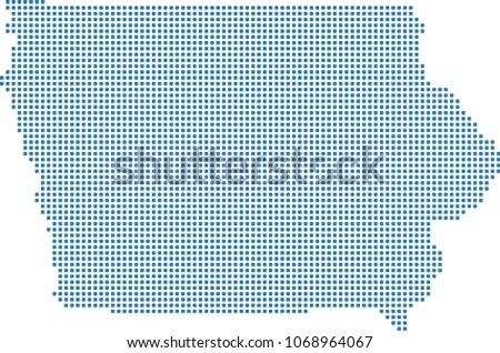 Iowa State USA Map Dots Vector Stock Vector (Royalty Free ...