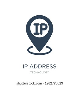 ip address point locator icon vector on white background, ip address point locator trendy filled icons from Technology collection, ip address point locator vector illustration