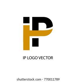 ip letter logo