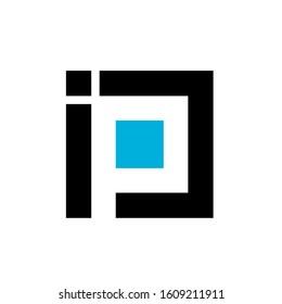 ip logo design simple modern template
