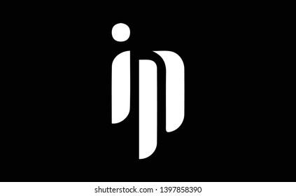 IP logo design template vector illustration