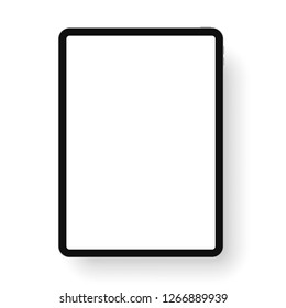 iPad Pro with 11-inch display, 2018. Template frame with shadow. Vector illustration. EPS10