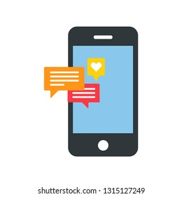 I-phone notification icon vector. I-phone notification symbol. Linear style sign for mobile concept and web design. I-phone notification symbol illustration. Pixel vector graphics - Vector.