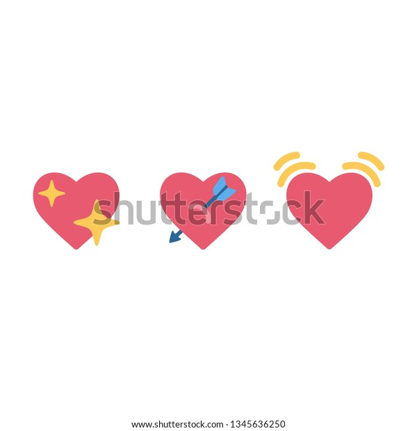 Vetor Stock De Iphone Shine Heart Emoji Sign Icon Livre De
