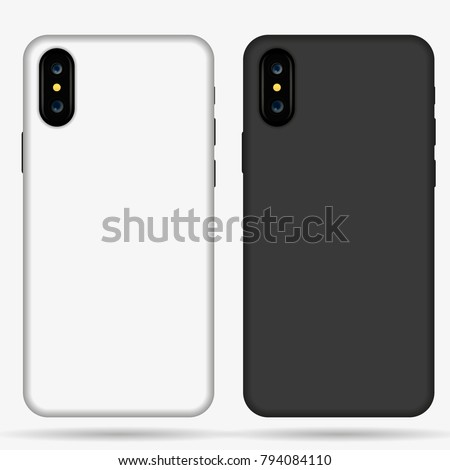 Iphone X Case Mockup Template Illustration Stock Vector Royalty