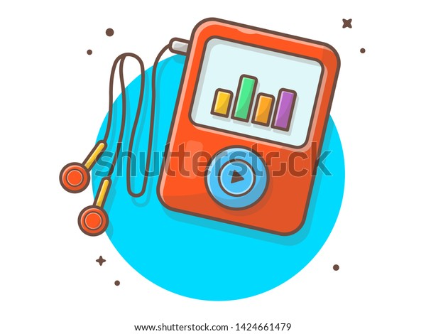 Ipod Audio Music Player Earphone Music Stock Vector Royalty Free 1424661479