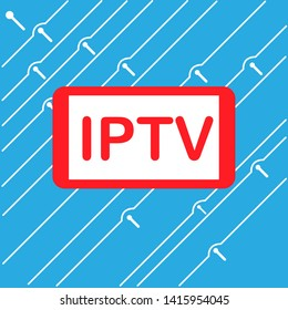 IPTV illustration tv red blue internet