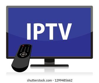 iptv television set, remote control