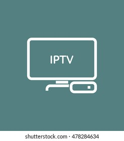 IPTV / TV box vector icon.
