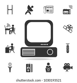 IPTV vector icon. Detailed set icons of Media element icon. Premium quality graphic design. One of the collection icons for websites, web design, mobile app on white background