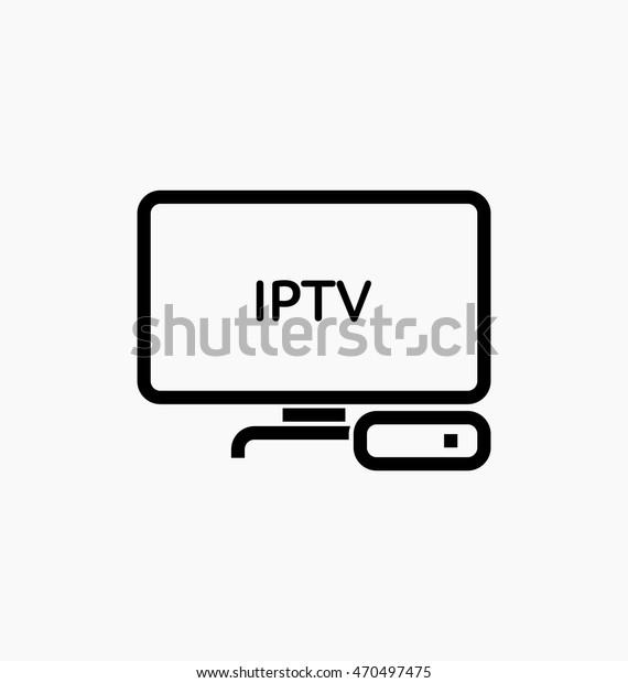 Iptv Vector Icon Tv Box Sign Stock Vector (Royalty Free