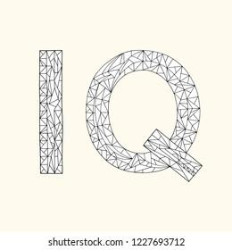 IQ hand drawn coloring book. Intelligence quotient design vector illustration.