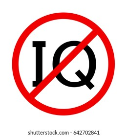 IQ prohibited sign.
