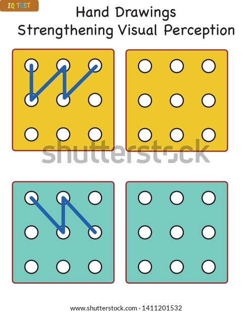 Iq Test Visual Perception Games Suitable Stock Vector (Royalty Free