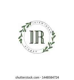 IR Initial beauty floral logo template