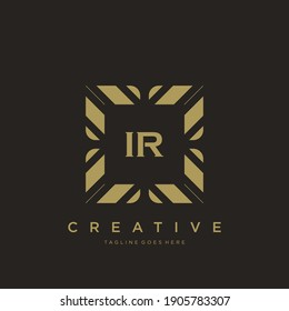 IR initial letter luxury ornament monogram logo template vector.