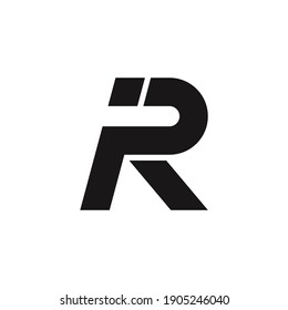 IR, PR, RP, R letter logo design vector on white background.