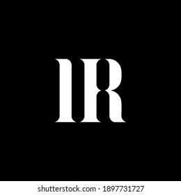 IR I R letter logo design. Initial letter IR uppercase monogram logo white color. IR logo, I R design. IR, I R
