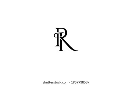 IR RI Abstract initial monogram letter alphabet logo design