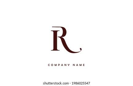 IR, RI Alphabet Letters Logo Monogram