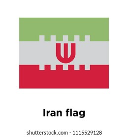 Iran flag icon vector isolated on white background for your web and mobile app design, Iran flag logo concept