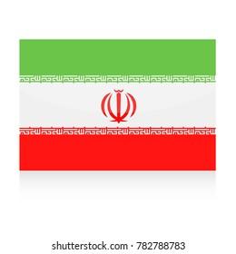 Iran Flag Vector Icon - Illustration
