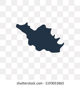 Iran map vector icon isolated on transparent background, Iran map transparency concept can be used web and mobile