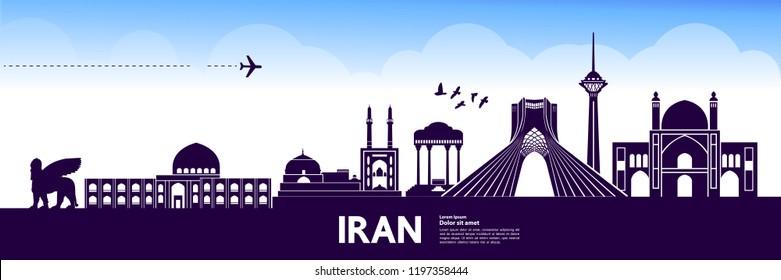 Iran Travel Destination vector.