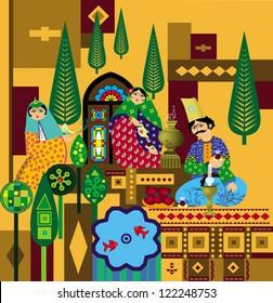 Iranian old ornaments vector  sc 1 st  Shutterstock & Persian Door Images Stock Photos u0026 Vectors | Shutterstock