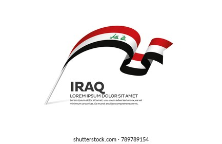 Iraq flag background