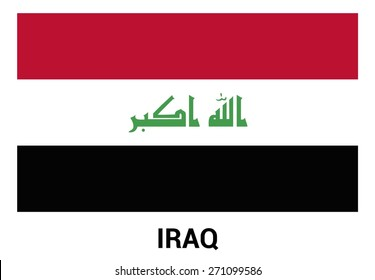 Iraq Flag isolated vector in official colors and Proportion Correctly