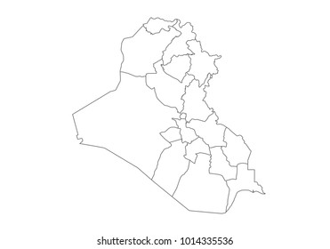 Iraq Outline Images, Stock Photos & Vectors | Shutterstock