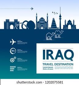 Iraq Travel Destination Vector.