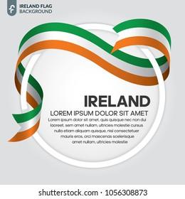 Ireland flag background