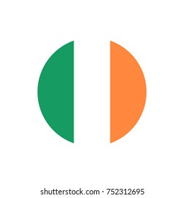 Ireland flag, official colors and proportion correctly. National Irish flag. Vector illustration