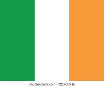 Ireland flag. Vector isolated illustration of