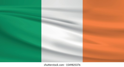 Ireland flag with waving effect