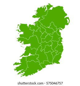 ireland green map