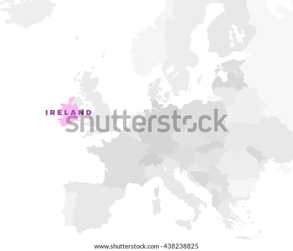 Ireland Location Modern Detailed Map All Stock Vector ...