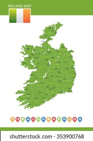 Map Of England With Counties.Uk Ireland Counties Map Images Stock Photos Vectors Shutterstock
