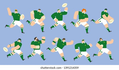 Ireland national team rugby players set for Six Nations tournament