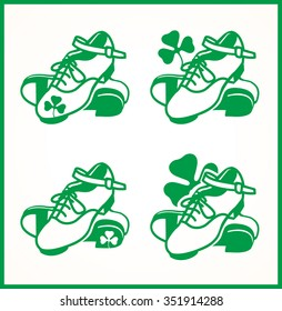 Irish dancing shoes logo in 4 variations