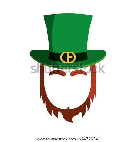 ec30b17b7cb5d Irish Elf Hat Beard Isolated Icon Stock Vector (Royalty Free ...