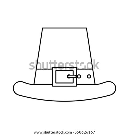 5175a42e972 Irish Elf Hat Icon Vector Illustration Stock Vector (Royalty Free ...