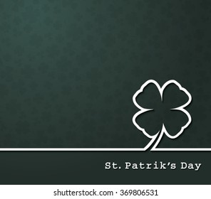 Irish four leaf lucky clovers background for Happy St. Patrick's Day