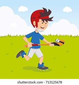 Irish Hurling Player