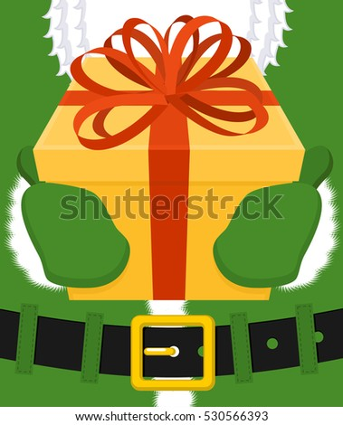 a1f360092f0 Claus Ireland ( Daidi na Nollag ) Milesian language. Christmas old man in  green clothes. Sprig of mistletoe on cap. Traditional New Year grandfather  - ...