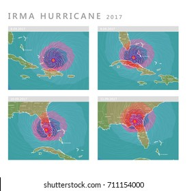 Irma hurricane 2017 forecast vector