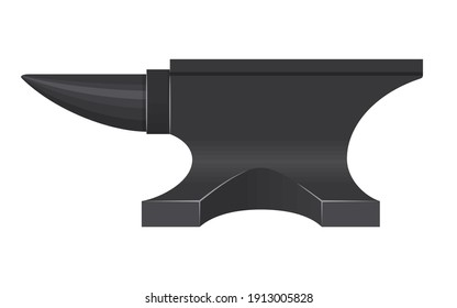 Iron Anvil isolated on white background. Blacksmith anvil tool vector illustration